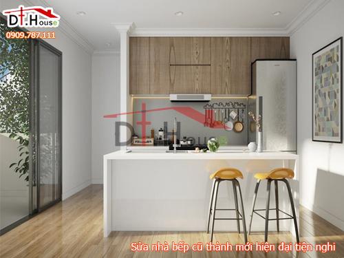 Sửa chữa nhà bếp cũ kĩ thành không gian tiện nghi hiện đại