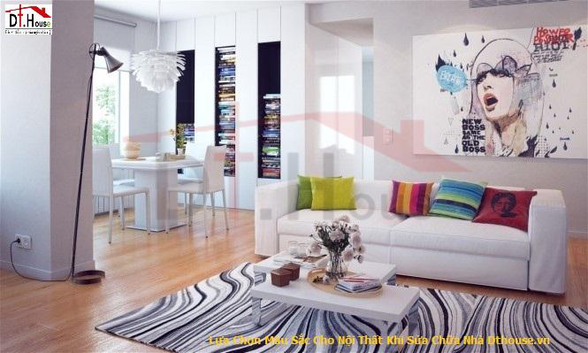 Lựa Chọn Màu Sắc Cho Nội Thất Khi Sửa Chữa Nhà