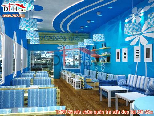 Thiết Kế Sửa Chữa Quán Trà Sữa Đẹp Tại Sài Gòn