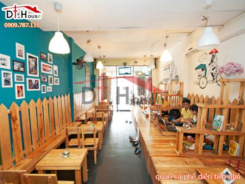 Thiết kế quán cà phê diện tích nhỏ tại Sài Gòn