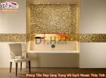 Phòng Tắm Đẹp Sang Trọng Với Gạch Mosaic Thủy Tinh