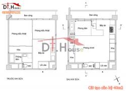 Căn Hộ Chật Hẹp 40 m2 Được Biến Hóa Tràn Anh Sáng