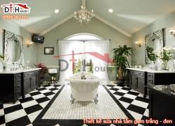 Thiết Kế Sửa Phòng Tắm Tuyệt Đẹp Với Gam Trắng Đen