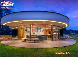 Thiết kế ngôi nhà hình tròn