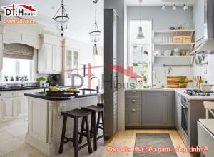 Ý Tưởng Hay Cho Sơn Sửa Gian Bếp Gam Trắng Tinh Tế