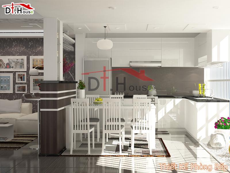 Thiết Kế Phòng Bếp Chung Cư Nhà Chị Tuyết – Hà Nội