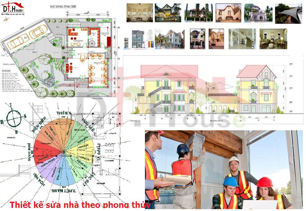 Thiet Ke Sua Nha Theo Phong Thuy Dthouse